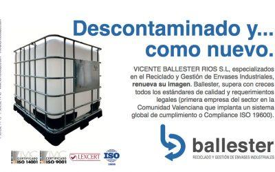Presencia de Ballester en el nuevo catálogo corporativo de QUIMACOVA.